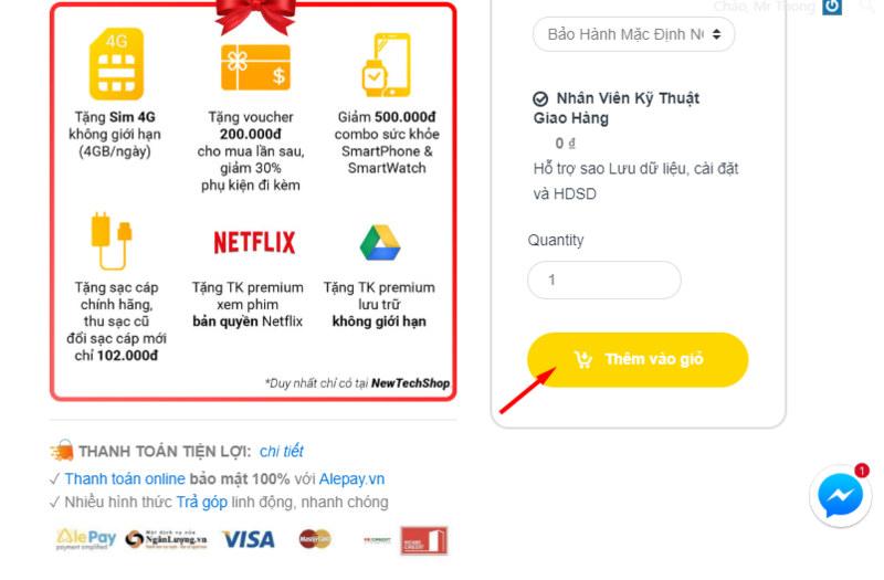 6 bước đơn giản để mua hàng online tại NewTechshop 30